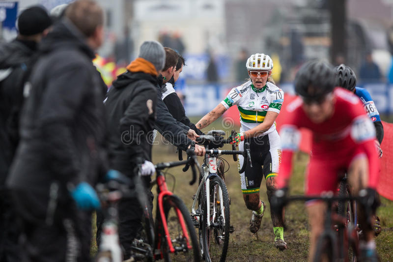Coupe du monde d'UCI Cyclocross - Hoogerheide, Pays-Bas photographie stock