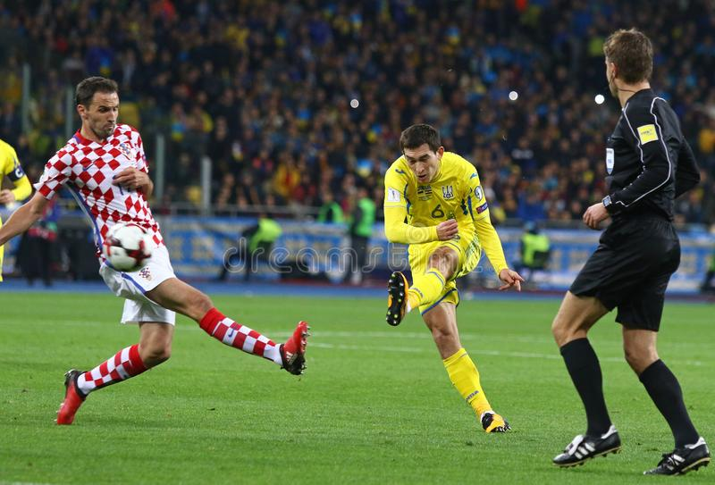 Coupe du monde de la FIFA 2018 qualifiant : L'Ukraine v Croatie photos libres de droits