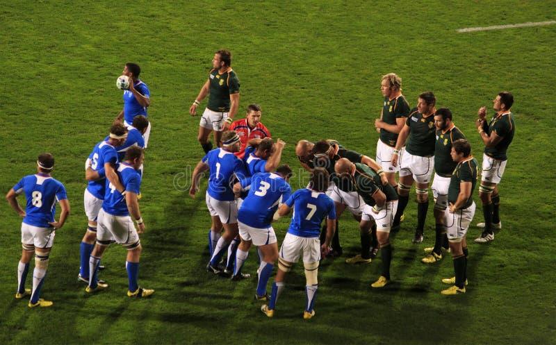 Coupe du monde de rugby Afrique du Sud 2011 contre la Namibie photographie stock libre de droits