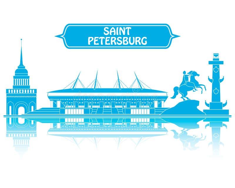 Coupe du monde de St Petersbourg 2018 illustration stock