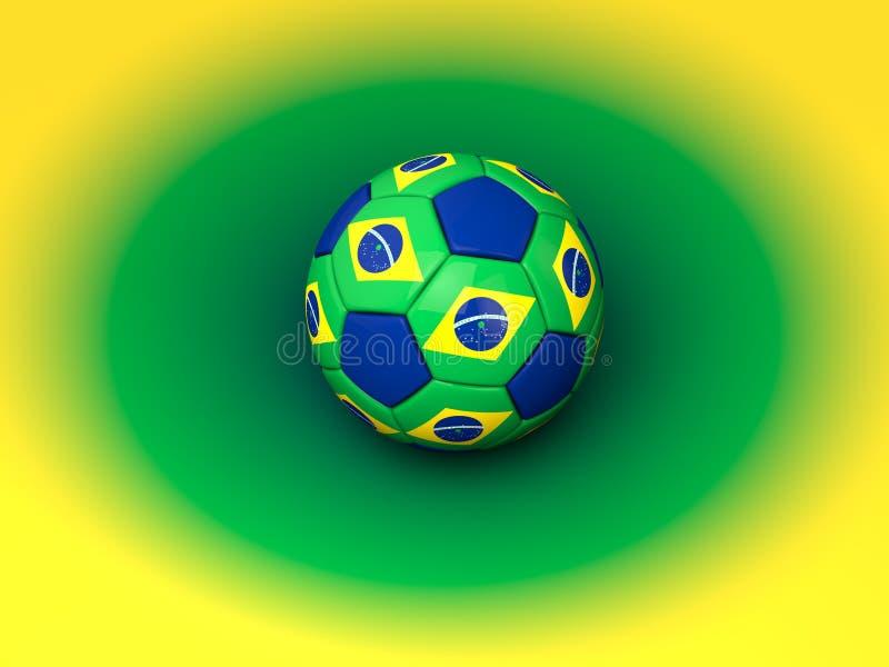 Coupe du monde du football du Brésil illustration de vecteur