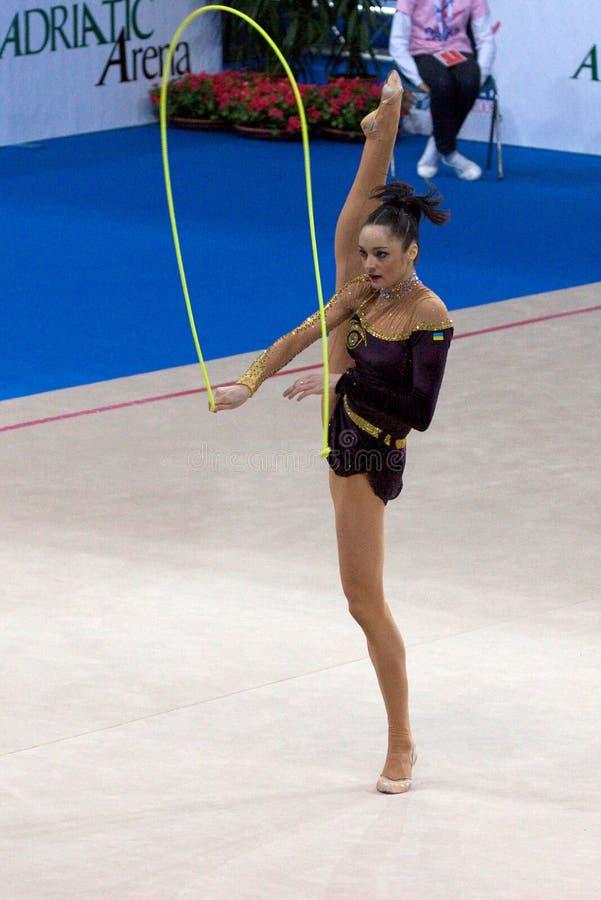 COUPE DU MONDE gymnastique rhythmique de FIGUE PESARO 2009 photographie stock libre de droits