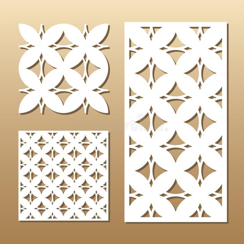 Coupe géométrique de laser illustration libre de droits