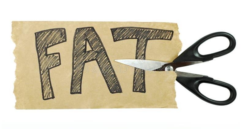 Couper la graisse image libre de droits