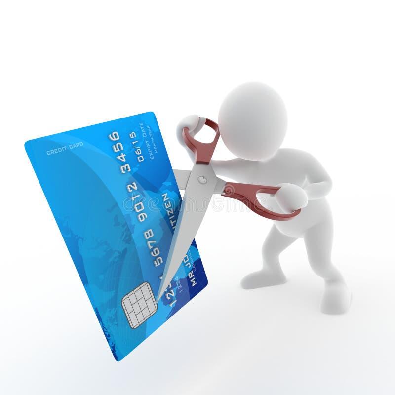 Couper par la carte de crédit illustration libre de droits