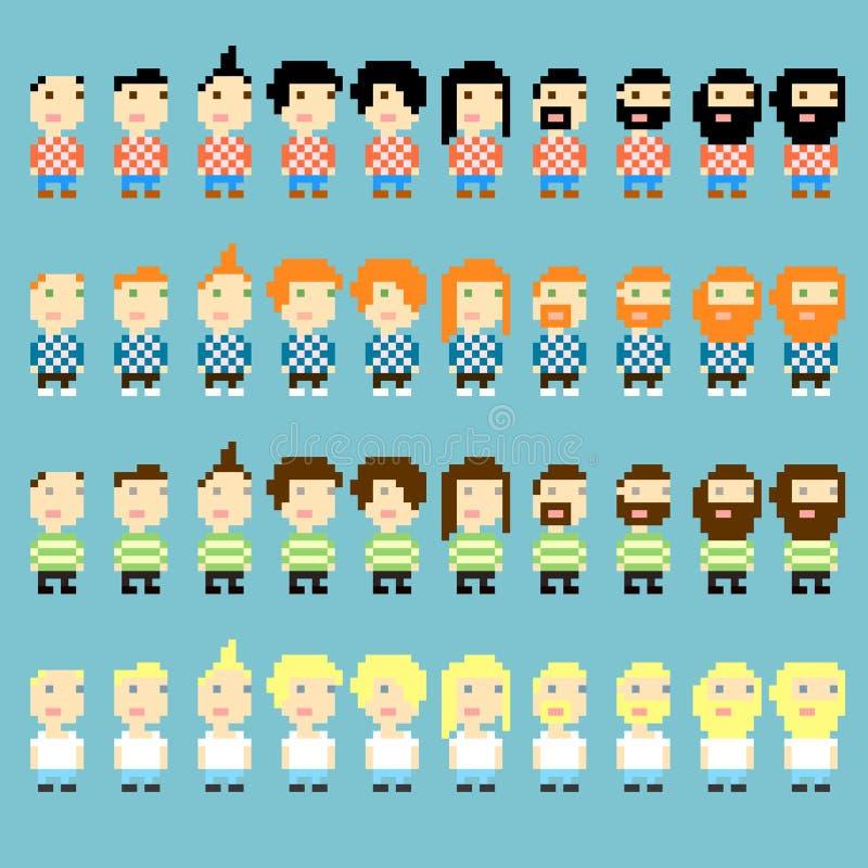 Coupes de Pixel illustration de vecteur