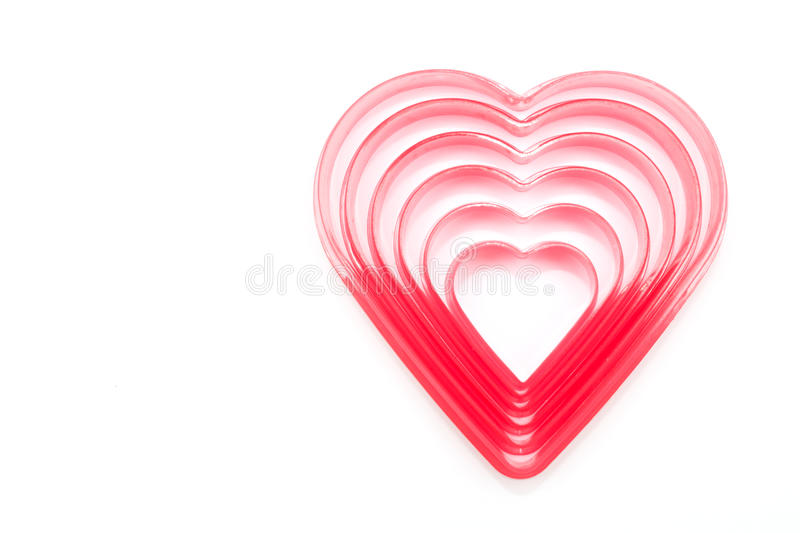 coupeur de biscuit en forme de coeur photo stock