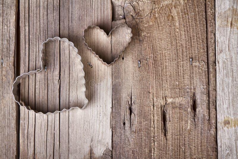 Coupeur en forme de coeur de biscuit en métal image libre de droits
