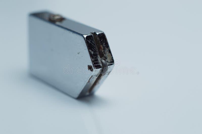 Coupeur en verre - outil pour le verre taillé sur le fond blanc photo libre de droits