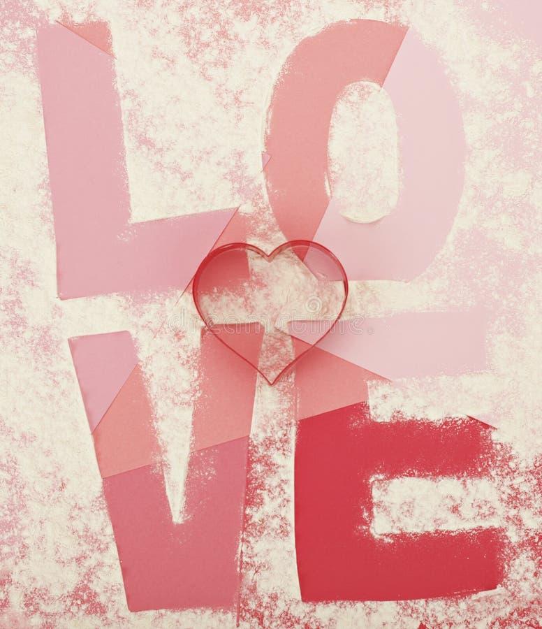 Coupeurs de biscuit d'amour images libres de droits