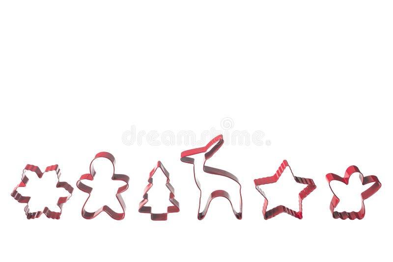 Coupeurs de biscuit de Noël images stock