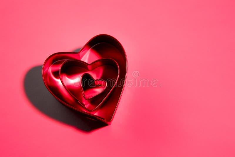 Coupeurs de biscuit du jour de Valentine images stock