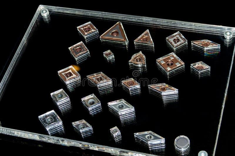 Coupeurs en métal pour les outils de fraisage pour l'industrie lourde image stock