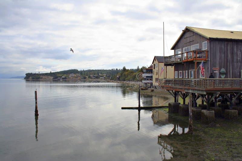 Coupeville Hafen lizenzfreie stockfotos