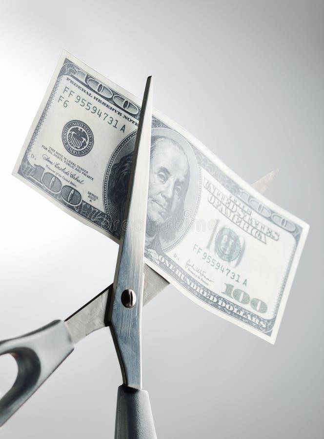 Coupez la dépense image libre de droits