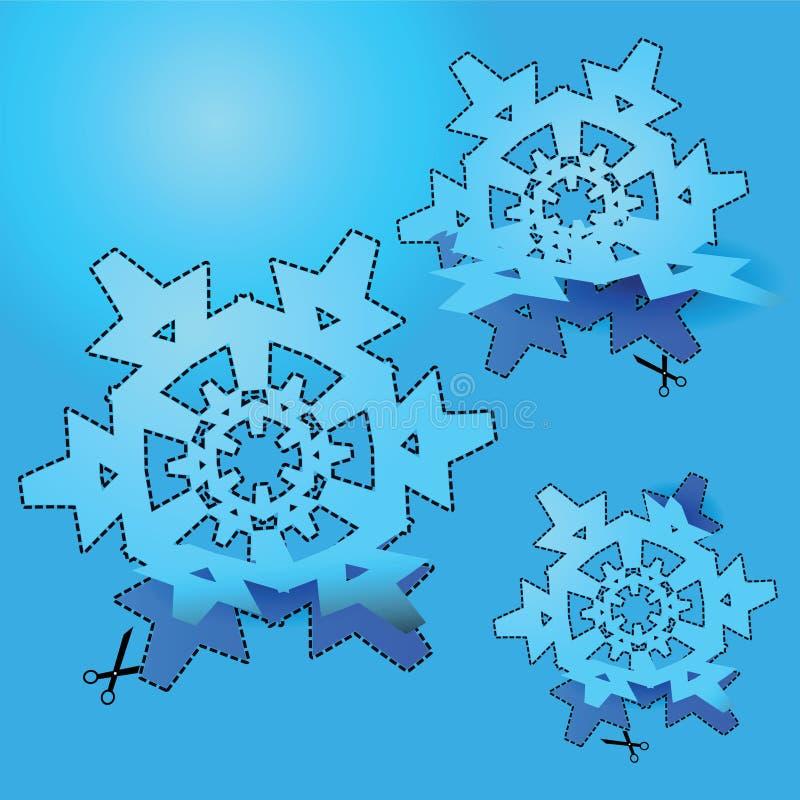 Coupez le flocon de neige illustration libre de droits