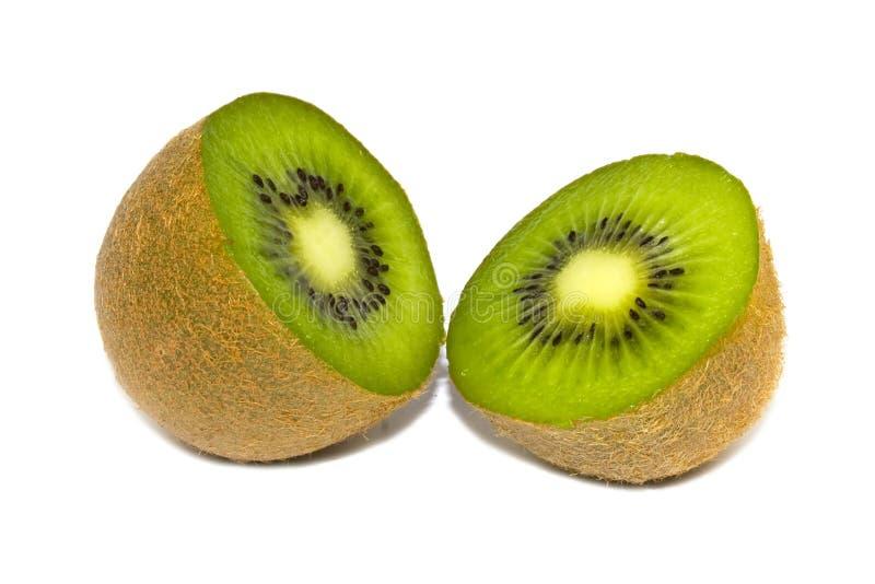 Coupez le kiwi, d'isolement images libres de droits