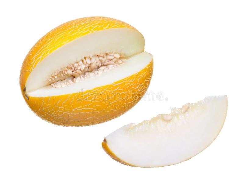Coupez le melon mûr photo stock