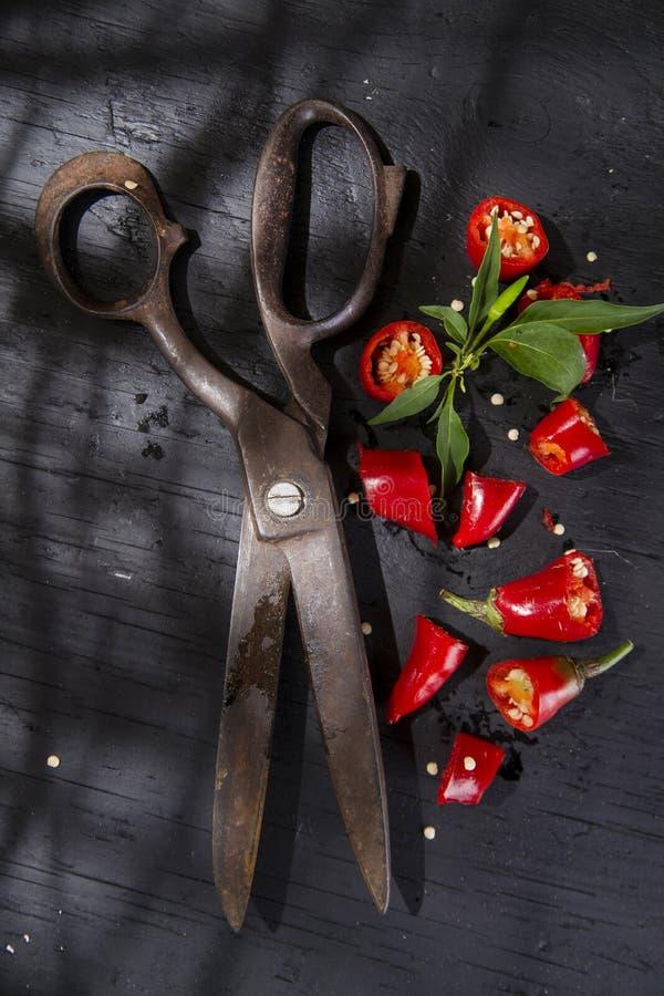 Download Coupez le poivron rouge photo stock. Image du chaud, organique - 45359430