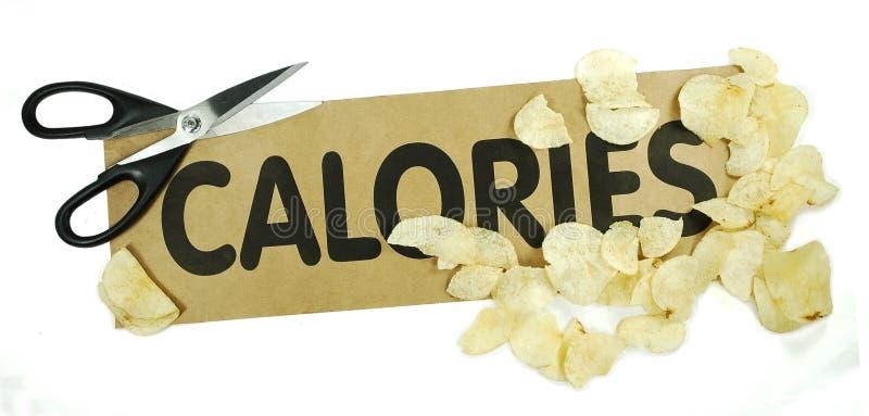 Coupez les calories image libre de droits