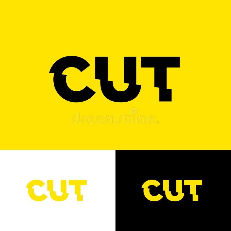 Coupez les lettres Effet de probl?me Composition plaisante en typographie illustration de vecteur