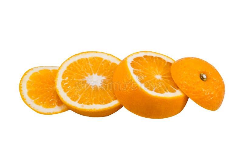 Coupez les oranges photo stock