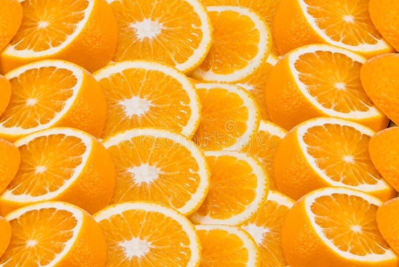 Coupez les oranges photographie stock libre de droits