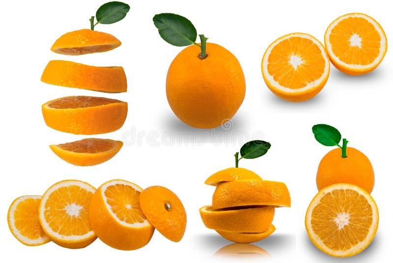 Coupez les oranges image stock