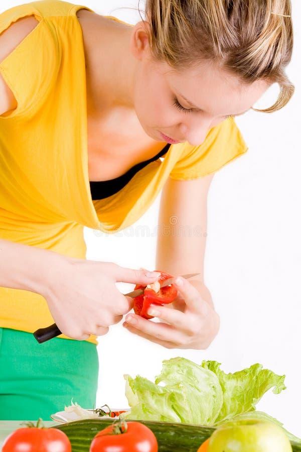coupez les parties de paprika image stock