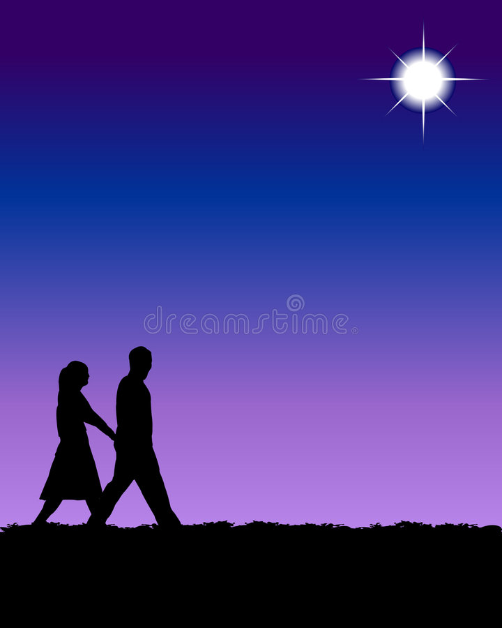 Download Couple stock vector. Image of couples, romantic, moon - 1075831