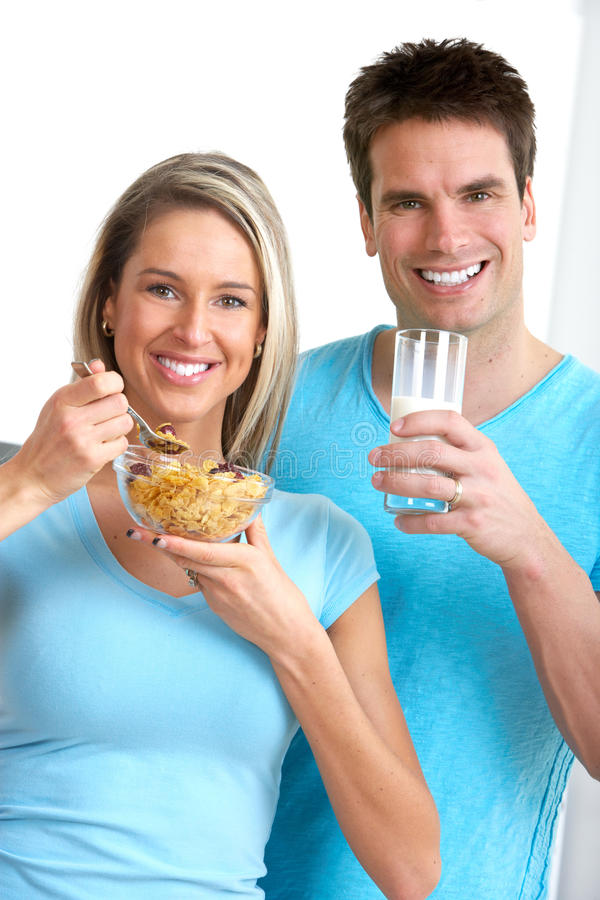 Download Couple stock photo. Image of health, lady, cereals, couples - 14102686