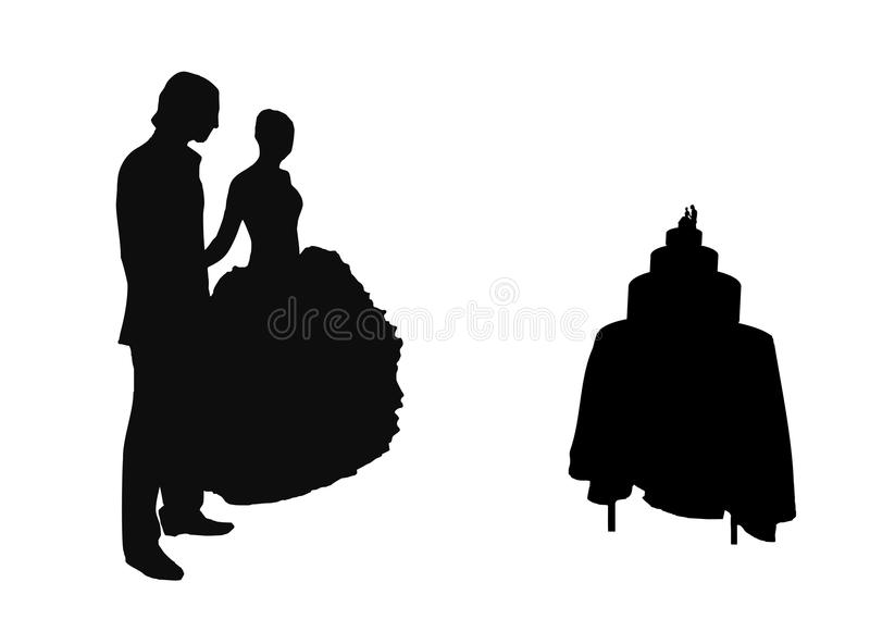 Download Couple stock illustration. Image of newlywed, standing - 23263282