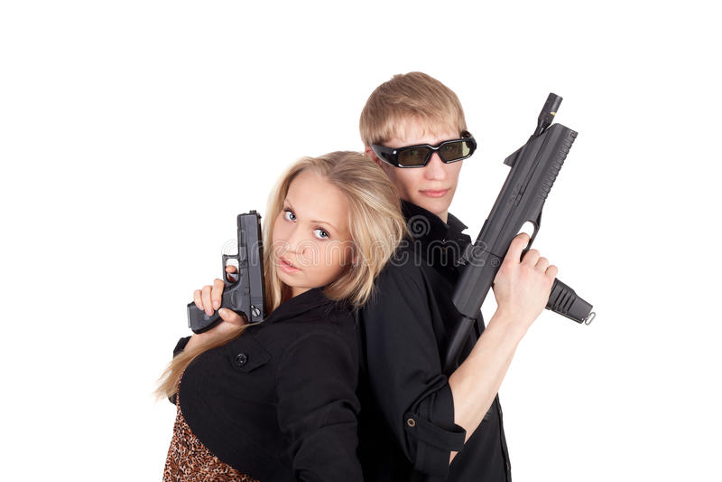 Download Couple stock photo. Image of studio, action, dangerous - 23843020