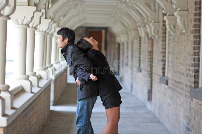 Download Couple stock photo. Image of high, caught, good, university - 24640502