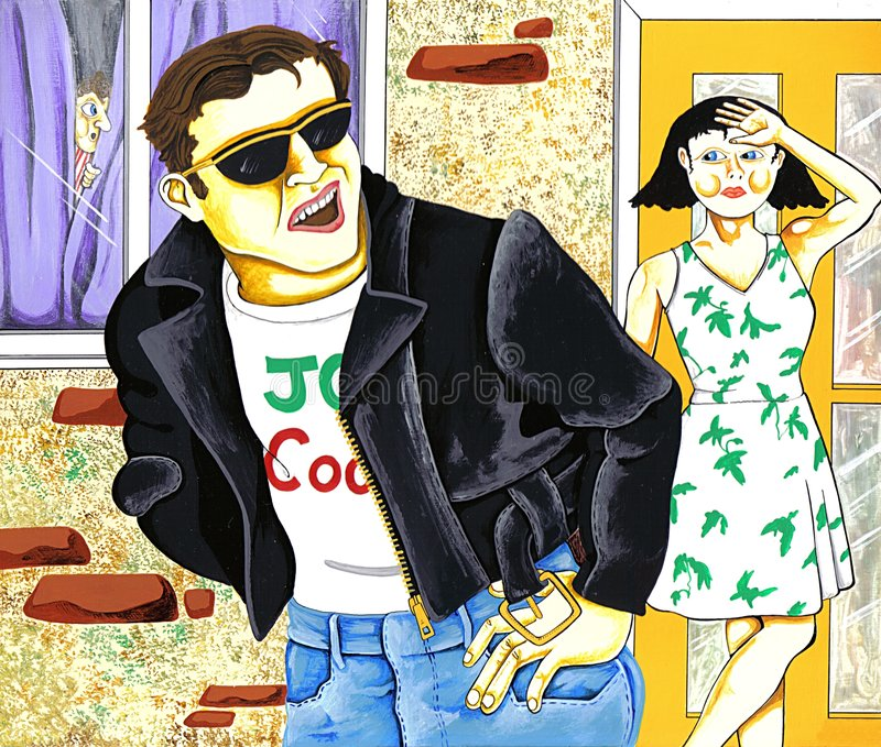 Download Couple stock illustration. Image of designs, woman, cool - 78454