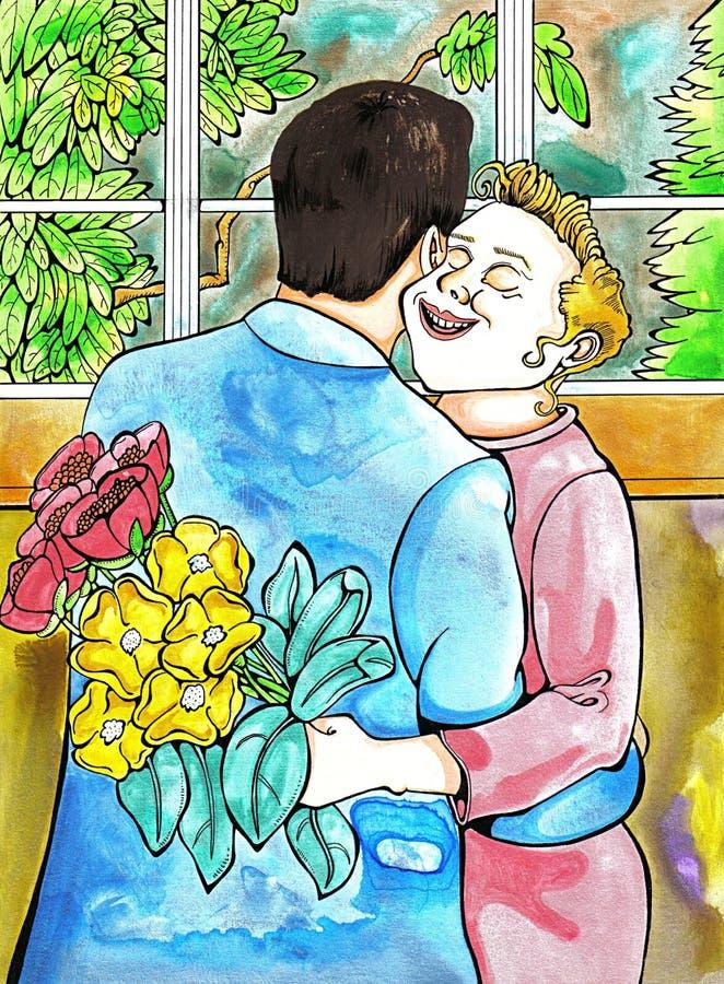 Download Couple stock illustration. Illustration of boyfriend, companionship - 78456