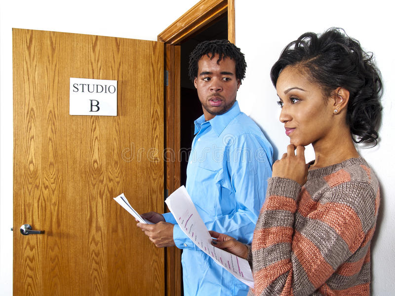 Download Couple of actors stock photo. Image of casting, call - 24689644