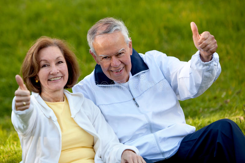 Download Couple of adults stock image. Image of thumbs, outside - 14686021