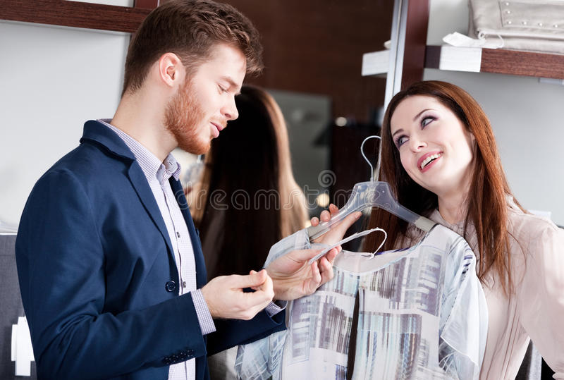 Download Couple Is Amazed With Special Prices Stock Image - Image: 29528395