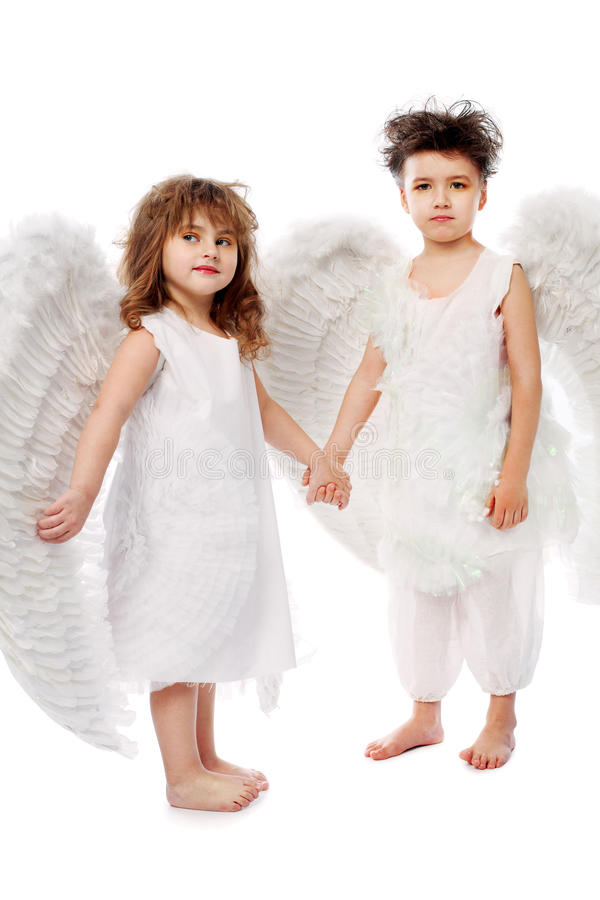 Download Couple Of Angels Stock Image - Image: 12614101