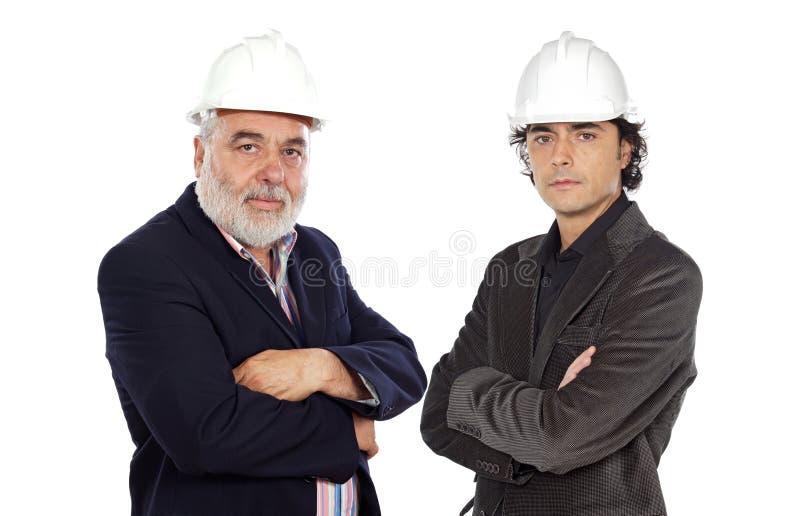 Couple of architect stock image