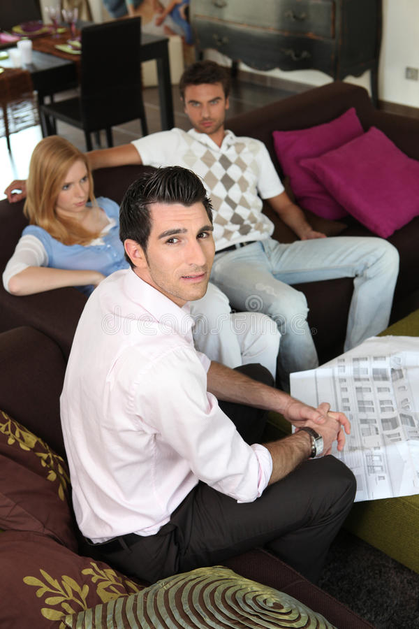 Download Couple and architect stock image. Image of design, adult - 26796089