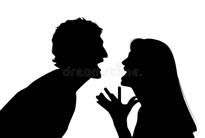 Couple arguing vector illustration