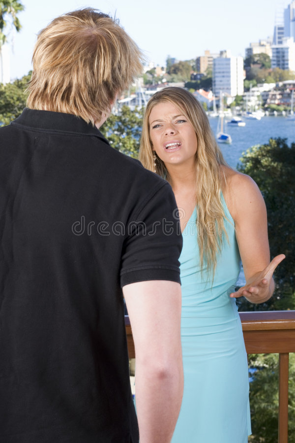 Couple arguing royalty free stock photo