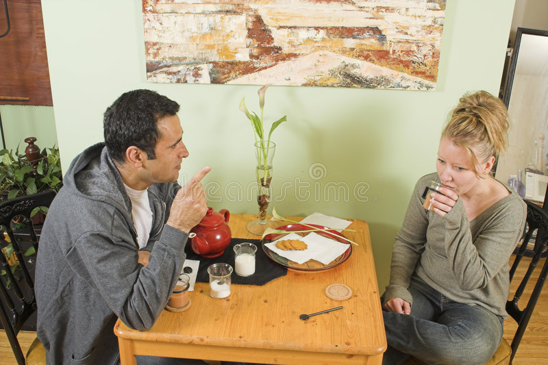 Couple arguing stock image
