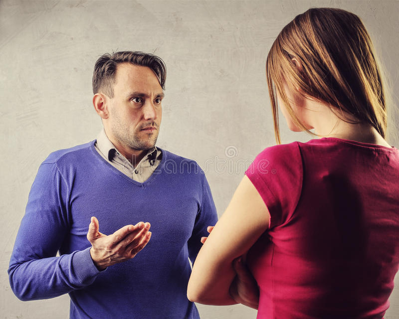 Couple arguing stock photo