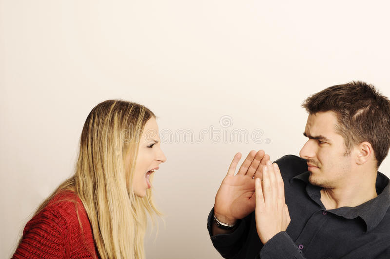 Couple arguing royalty free stock photos