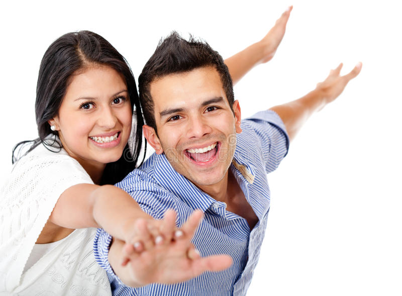 Download Couple with arms open stock photo. Image of caring, open - 23941654
