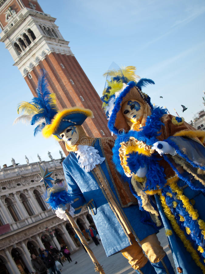 Free Couple At Venice Carnival 2012 Stock Photography - 24050242