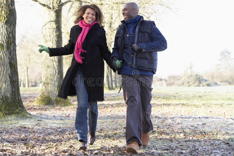 Download Couple On Autumn Walk stock image. Image of happiness - 9388635